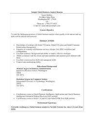 sample siebel business analyst resume