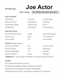 Resume Template For Actors by Acting Resume Template Word Vasgroup Co
