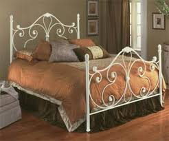 iron brass bed grand sales aynsley ivory white metal full bed w