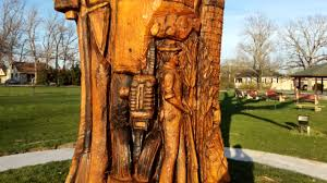 sawmill park tree chainsaw carving richland nj