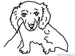 realistic dog coloring pages chuckbutt com