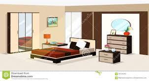 Bedroom Furniture Modern 3d Isometric Bedroom Design Vector Illustration Of Modern
