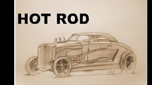classic cars drawings how to draw a rod 3d youtube