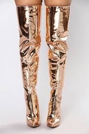 s knee boots on sale a rockstar the knee boot gold