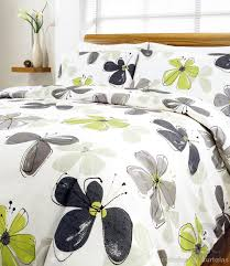 Grey And White Bedroom Ideas Uk Lime Green Fresca Contemporary Floral Printed Duvet Cover Beds