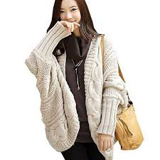 plus size cable knit sweater amazon com partiss batwing cable knit plus size cardigan