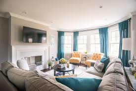 Property Brothers HGTV Norwalk Transitional Family Room - Hgtv family rooms