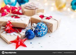light blue decorative balls christmas and new year background with blue decorative balls