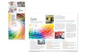 Interior Brochure Pdf House Painting Contractor Tri Fold Brochure Template Word