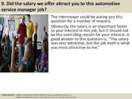 salary for auto service manager top 10 automotive service manager interview questions and answers