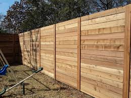 modern horizontal fence with stacked boards outside u0026 exterior