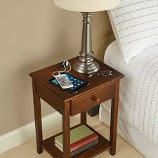 the charging nightstand hammacher schlemmer