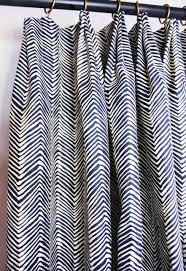 quadrille alan campbell petite zig zag custom drapes