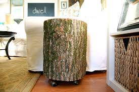 silver tree stump side table tree stump side table with wheels