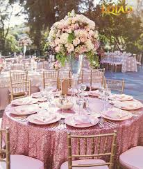 pink round table covers 10pcs embroidered pink gold sequin tablecloth 120 round table cover