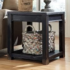 Ashley Outdoor Furniture Signature Design By Ashley Gavelston Rectangular Black Sofa Table