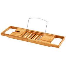 bathtub caddy with book holder amazon com ollieroo natural bamboo bathtub caddy with extending