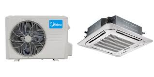 ductless mini split cassette midea 36000 btu 17 5 seer ceiling cassette mini split heat pump
