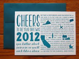year in review christmas card typographic year in review cards