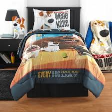 Walmart Full Comforter Secret Life Of Pets U0027wish You Were Here U0027 Reversible Twin Full