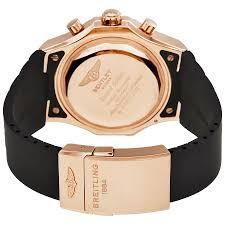 rose gold bentley breitling bentley gmt black dial chronograph 18k rose gold men u0027s