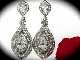 drop bridal earrings beautiful swarovski drop wedding earrings sale