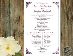 one page wedding programs wonderful one page wedding invitations templates 87 for cheap