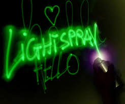 glow in the paint in the spray paint