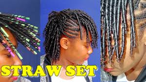 short straw set hairstyles perfect straw set curls natural hair styles jah nette youtube