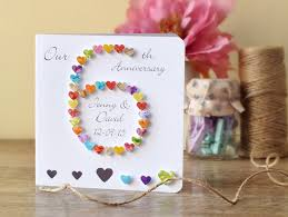 6th anniversary gift ideas for 6th wedding anniversary card personalised custom 6th