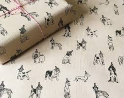 wrapping paper on sale dog wrapping paper etsy