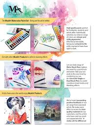 amazon com watercolor paint set 24 vibrant colors lightweight