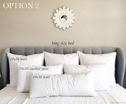 decorative pillows bed decorative pillow size guide for king beds arianna belle regarding