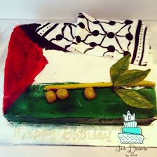 Dessert Flags Palestinian Flag Cake With A Hatta And Olive Branch This Cake Is