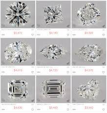 diamonds princess cut trellis diamond engagement ring in 18k