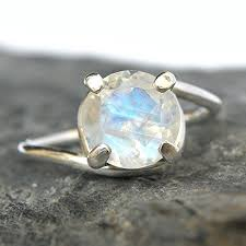 moonstone engagement rings rainbow moonstone engagement ring sterling silver