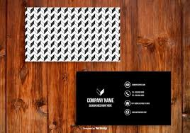 black and white business card template download free vector art