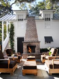 Designs For Garden Furniture by Outdoor Fireplace Ideas Design Ideas For Outdoor Fireplaces Hgtv