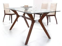 Glass Wood Dining Room Table Glass And Wood Dining Tables