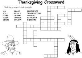 printable thanksgiving crossword puzzle happy thanksgiving