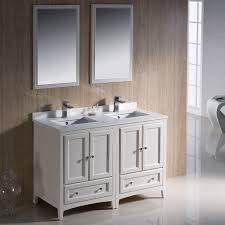 Fresca Bathroom Vanity by Fresca Oxford 48 Inch Antique White Traditional Double Sink