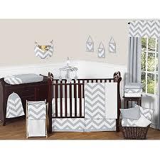 Gray And White Chevron Crib Bedding Sweet Jojo Designs Chevron Crib Bedding Collection In Grey White