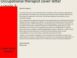 psychiatric occupational therapist cover letter