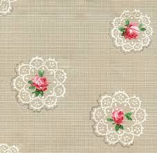 683 Best Pattern Wallpaper Textiles by Pretty Vintage Wallpaper Doily Roses The Graphics Fairy
