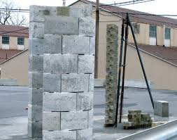 plastic concrete building bricks made from landfill waste