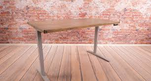 reclaimed wood stand up desk shop uplift desk