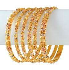 bracelet gold white gold images 22k three tone bangles ajba50876 22k multi tone rose gold jpg