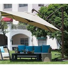 10 Foot Patio Umbrella Abba 10 Foot Deluxe Square Offset Cantilever Patio Umbrella Free