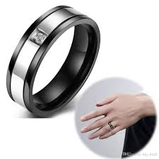 black zircon rings images 2018 stainless steel luxury man ring black outside recessed glass jpg