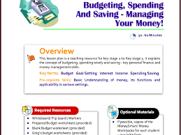 free spending and budgeting lesson plan for ks2 to ks3 by